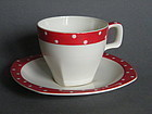 Midwinter Stylecraft Red Domino Cup & Saucer circa 1960