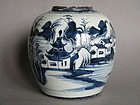 18th/19thC Chinese Landscape Jar, Jaiqing (1796-1820)