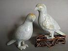 Fine Pair Large Chinese Jadeite Birds 18th/19th Century