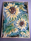 German Karlsruhe Sunflowers Tile or Plaque  circa 1960s