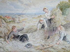 Victorian Painting by Myles Birket Foster R.W.S. c1875