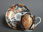 Early 18 C  Japanese Imari Porcelain Coffee Cup & Saucer c 1720 - 1730