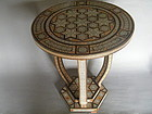 Art Deco Islamic Marquetry Inlaid Table from Syria circa 1920 - 1940