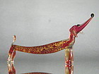 Art Deco Venetian Glass Dog from Italy, circa 1930-1950