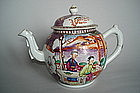 18th Century Chinese Export Famille Rose Teapot & Cover