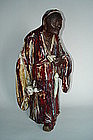 19/20 C Chinese Flambe Glazed Shiwan Stoneware Figure