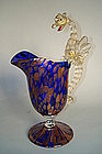 Venetian Dragon Handled Jug by Toso or Barovier c1900