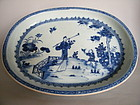 Early 18th C Chinese Export  Meat Plate circa 1730-1750