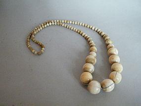 Large Antique Chinese Ivory Necklace