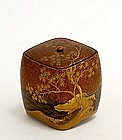 19C Japanese Makie Lacquer Kogo Incense Box