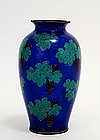 Japanese Cloisonne Plique a Jour Vase Grape