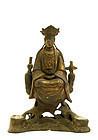 17C Chinese Lacquer Bronze Guan Kwan Yin Buddha