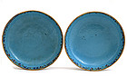 Pair of 18/19C Chinese Cloisonne Dish