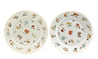 18/19C Chinese Famille Rose Flower Plate
