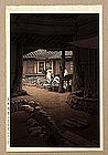 Japanese Woodblock Print Hasui Korean Scene