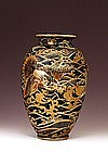 Old Japanese Relief Satsuma Vase Fly Dragon