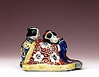 Old Japanese Kutani Erotic Couple Figurine