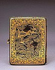 Japanese Komai Sty Gold Silver Mixed Metal Compact