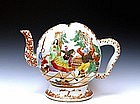 Old Chinese Export Famille Rose Teapot Russian Dancer