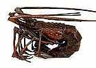 Old Japanese Bronze Articulated Lobster Signed
