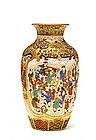 Meiji Japanese Satsuma Vase Figurine Figure Chin Jukan