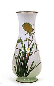 Japanese Kawade Shibataro Wireless Cloisonne Vase