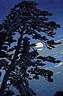 Woodblock Print Kawase Hasui Moon Magome