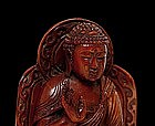 19C Chinese Ivory Carved Seated Buddha Mark