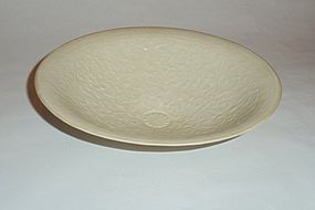 A Very Rare Song-Styled Dingyao Ivory-White Glazed Huge Bowl