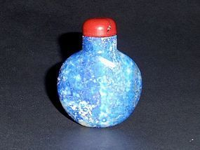 A Rare Snuff bottle Made of Lapis Lazuli