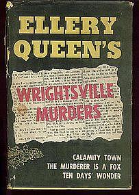 """BCE Ellery Queen's WRIGHTSVILLE MURDERS"""" HC/dj"""