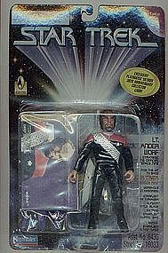 "Star Trek DSN Cdr Worf 5"" action figure"