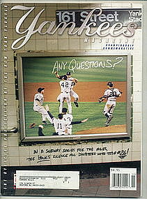 Yankee Magazine Vol 21, Issue 8-9. 2000 Championship