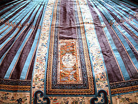 Elegant Chinese Qing Dynasty Silk Embroidered Skirt