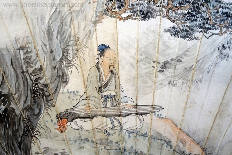 A Fine Chinese Fan Painting by Chen Fu Cang