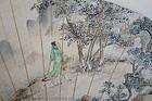 A Chinese Fan Painting by Wang Ren Shou (1875-1936)