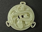 A Qing Nephrite Jade Bi