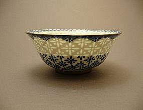 Rice-Grain Pattern LINGLONG Porcelain Bowl QIANLONG Mk