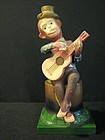 Celluloid Monkey Playing Guitar Wind Up Toy