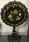 Victorian Papier Mache Tilt Top Table