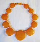 Beautiful Bakelite Butterscotch Necklace - Graduated Discs