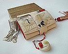 Old Japanese Bridal Tissue Holder with Kanzashi