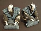 Unique Japanese Daimyo dolls in Samurai Komon Kamishimo