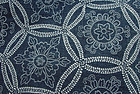 Antique Japanese Stencil Dye Cotton-Flowers in Shippo