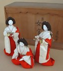Japanese Antique Hina Doll Ladies in Waiting Dolls