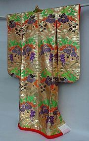 Beautiful Gold Japanese Wedding Gown. Noh Costume like