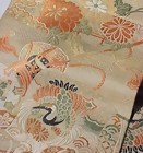 Old Nishijin Obi, Cranes in Pastel Colors