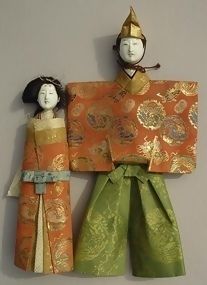 Standing Hina Dolls, Japanese Tachi-bina Ningyo