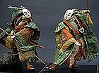 Large Samurai dolls, Old Japanese Takeda Theater Dolls