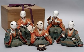 Antique Japanese dolls, Beautiful Musician Dolls